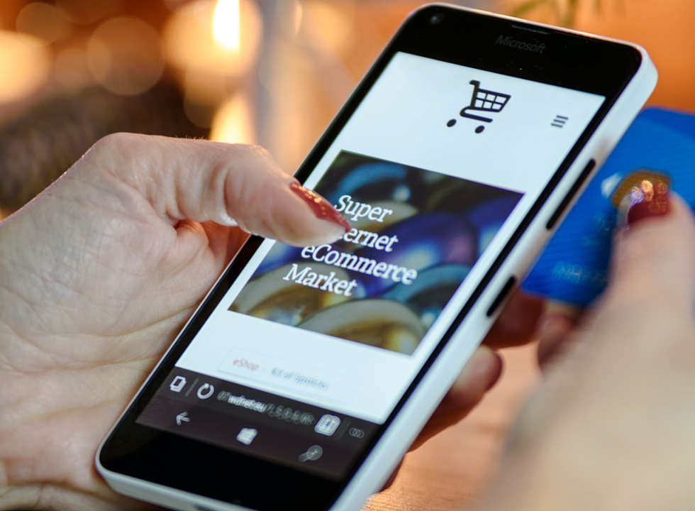 Online shopping via smartphone